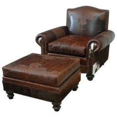 Acadia Armchair with Leather Upholstery from our handcrafted Wild West furniture collection. 7399