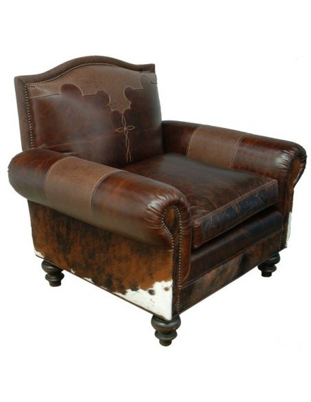 CHAIRS, Leather, Upholstered, Accent Acadia Armchair with Leather Upholstery from our handcrafted Wild West furniture collect...