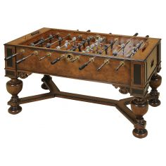 Napoleon Brown and Antique Aubergine Finished Foosball Table, Monkey & Lion Players