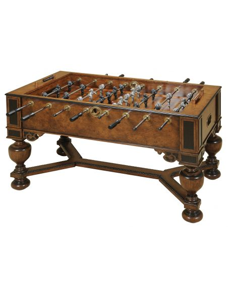 Decorative Accessories Napoleon Brown and Antique Aubergine Finished Foosball Table, Monkey & Lion Players