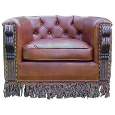 Elegantly Detailed Horseshoe Armchair from our handcrafted Wild West furniture collection. 7403
