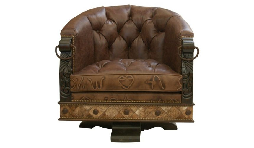 Gorgeously Detailed Rustic Leather, Rustic Leather Furniture