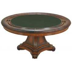 Hand Carved Aged Regency Finished Game Table.