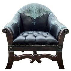 Beautiful Teal Murky Waters Armchair from our handcrafted Wild West furniture collection. 7412