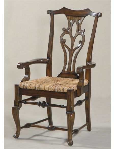Dining Chairs Camden Passage Finished Armchair with Abaca Rope Rush Seat