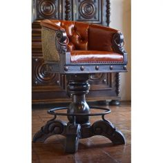 Gorgeous Cinnamon Horseshoe Bar Stool from our handcrafted Wild West furniture collection. 7421