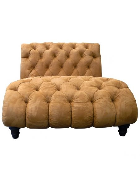 SETTEES, CHAISE, BENCHES Elegant Golden Sunset Chaise Lounge from our handcrafted Wild West furniture collection. 7427