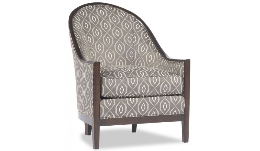 Luxury Leather & Upholstered Furniture Curved Back Patterned Chair