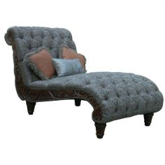 Elegant Stormy Grey Chaise Lounge from our handcrafted Wild West furniture collection. 7428