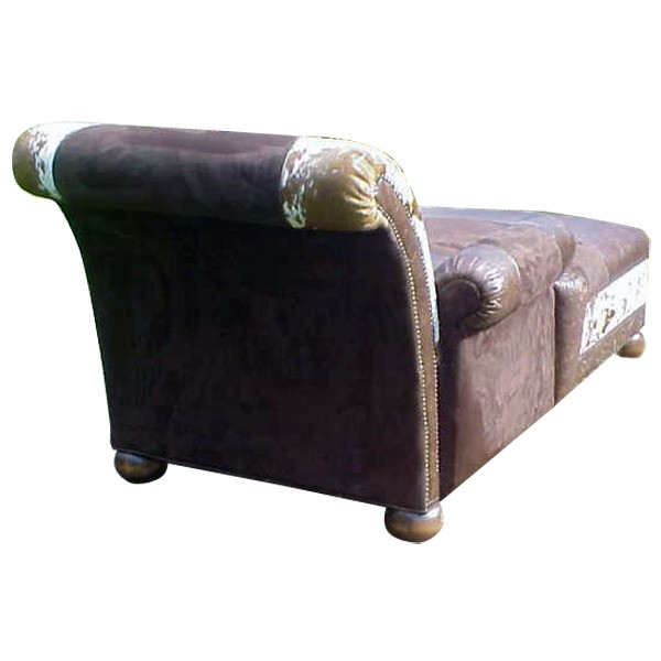 Cowhide Patterned Chaise Lounge Jairo From Our Handcrafted