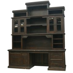 Elegant Dark and Rustic Bureau Bookcase from our hand crafted Wild West furniture collection. 7433