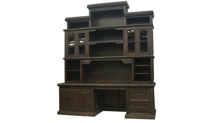 Bookcases Elegant Dark and Rustic Bureau Bookcase from our hand crafted Wild West furniture collection. 7433