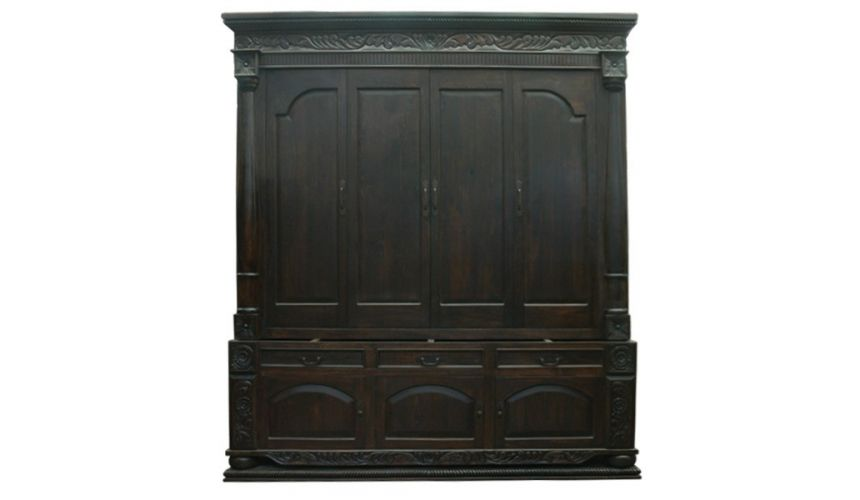Bookcases High End Desert Night Wide Solid Bookcase from our hand crafted Wild West furniture collection. 7434