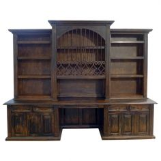 Classical Stallion Bureau Bookcase from our hand crafted Wild West furniture collection. 7435
