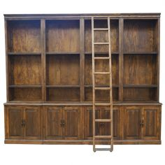 Deluxe Pinto Customizable Book Case from our hand crafted Wild West furniture collection. 7436