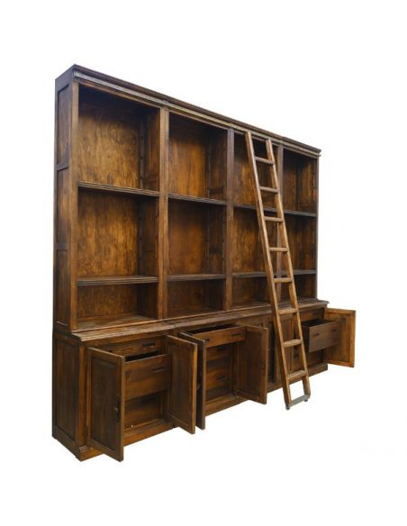 Bookcases Deluxe Pinto Customizable Book Case from our hand crafted Wild West furniture collection. 7436