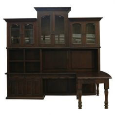 Classically Rustic Mocha Bookshelf Adan from our handcrafted Wild West furniture collection. 7437