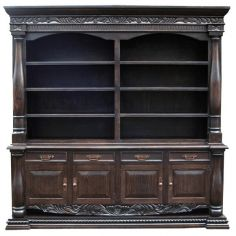 Elegant Mocha Bookshelf Adriano from our handcrafted Wild West furniture collection. 7438