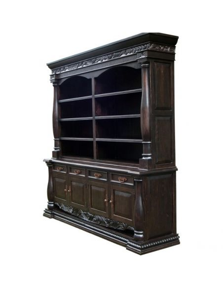Bookcases Elegant Mocha Bookshelf Adriano from our handcrafted Wild West furniture collection. 7438