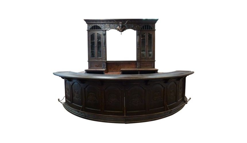 Upscale Bar Furniture High End Western Styled Bar Lorenzo from our handcrafted Wild West furniture collection. 7439