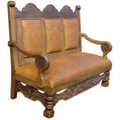 High End Marigold Full Bench from our handcrafted Wild West furniture collection. 7440