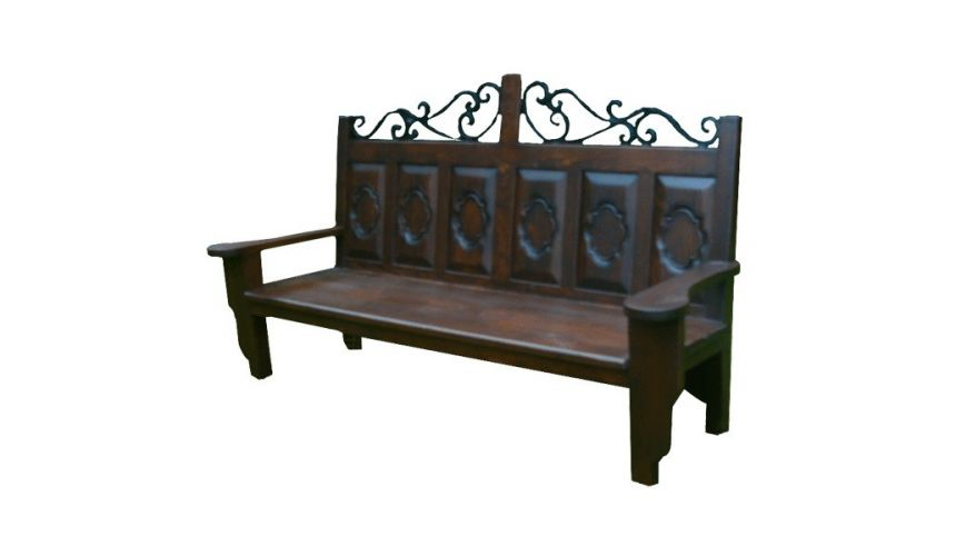 SETTEES, CHAISE, BENCHES High End Wooden Bench Settee Porfirio from our handcrafted Wild West furniture collection. 7441