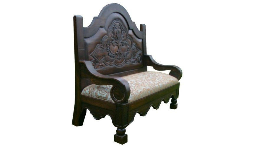 SETTEES, CHAISE, BENCHES Dark and Light Full Spanish Bench Pacho from our handcrafted Wild West furniture collection. 7443