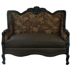 Elegant Midnight Vineyard Settee from our handcrafted Wild West furniture collection. 7445