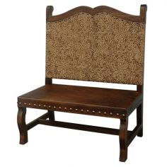 Elegant Golden Sun Rays Bench from our handcrafted Wild West furniture collection. 7446