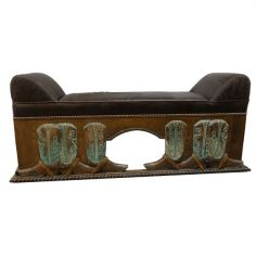 High End J.Kurczyn Designed Bench Vidal from our handcrafted Wild West furniture collection.7453