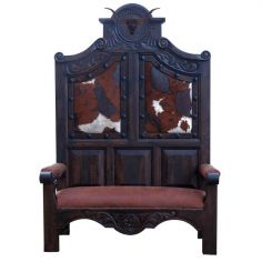 High End Ranch Cattle Bench from our handcrafted Wild West furniture collection. 7454