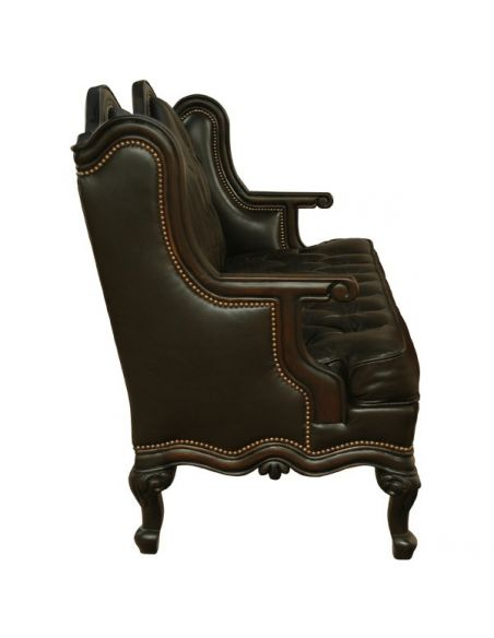 Western Furniture Deluxe Shadow Stallion Sofa from our handcrafted Wild West furniture collection. 7455