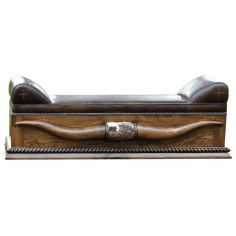 Elegant Dangerously Dark Longhorn Bench from our handcrafted Wild West furniture collection. 7457
