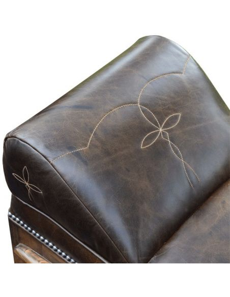 SETTEES, CHAISE, BENCHES Elegant Dangerously Dark Longhorn Bench from our handcrafted Wild West furniture collection. 7457