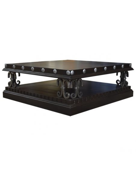 Rectangular and Square Coffee Tables Deluxe Sleek and Dark Coffee Table Cristos from our handcrafted Wild West furniture coll...
