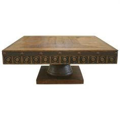 Circle-Detailed Coffee Table Clodovea from our handcrafted Wild West furniture collection. 7461