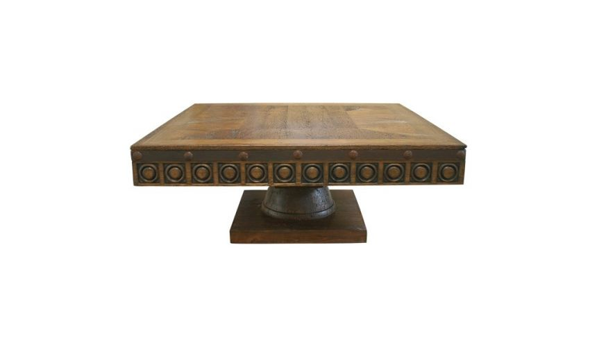 Rectangular and Square Coffee Tables Circle-Detailed Coffee Table Clodovea from our handcrafted Wild West furniture collectio...