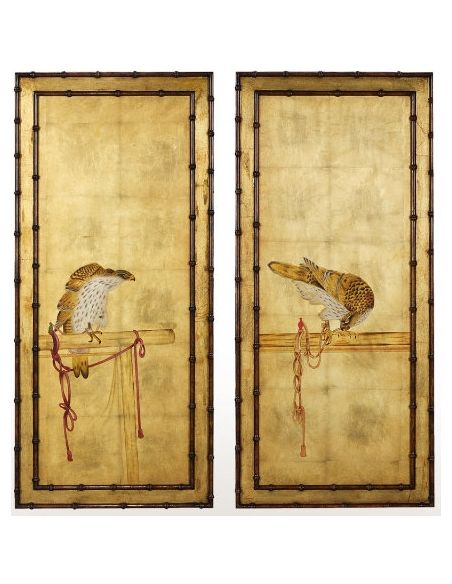 A set of two paintings
