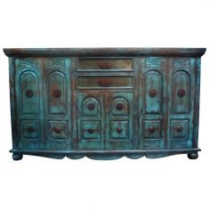 Deluxe Rustic Turquoise Nieves Bureau from our handcrafted Wild West furniture collection. 7465