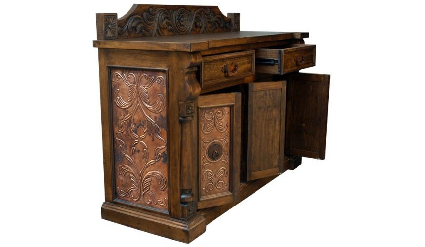 Console & Sofa Tables Lavishly Detailed Caramel Colored Cabinet from our handcrafted Wild West furniture collection. 7468