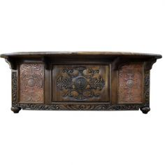 High End Intricately Carved Desk Angelina from our handcrafted Wild West furniture collection. 7472