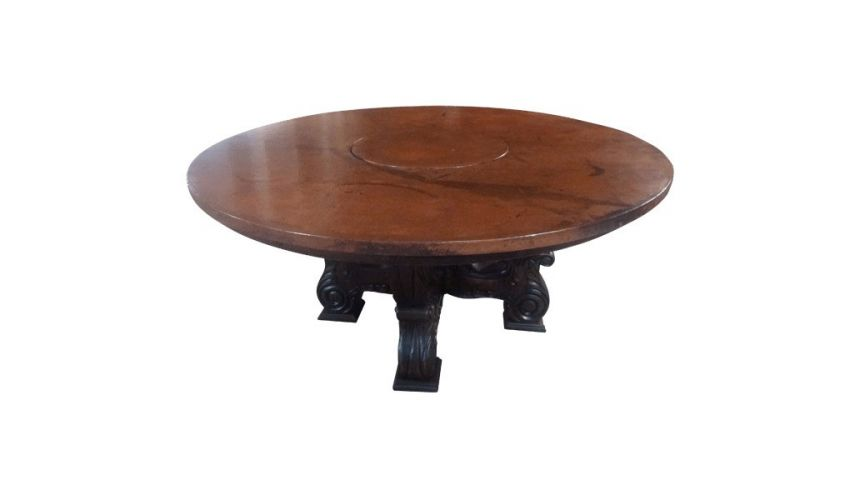 Dining Tables Classic High End Round Table Rivera from our handcrafted Wild West furniture collection. 7476