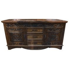 Elegantly Detailed Vanity in Pinero Wood from our handcrafted Wild West furniture collection. 7484