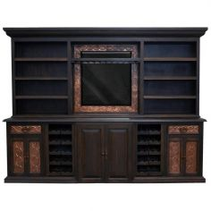 High End Dark and Bronzed TV Unit from our handcrafted Wild West furniture collection. 7485