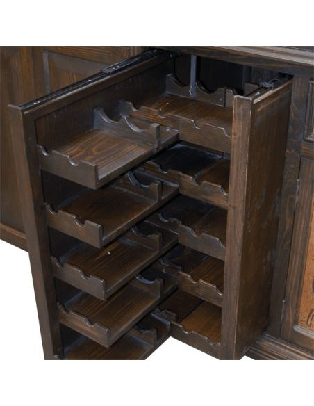 Entertainment Centers, TV Consoles, Pop Ups High End Dark and Bronzed TV Unit from our handcrafted Wild West furniture collec...