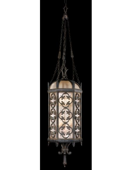 Lighting Large lantern in stylized quatrefoil design