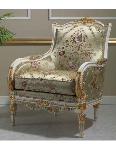 SOFA, COUCH & LOVESEAT Deluxe Platinum and Golden Sofa from our European hand painted furniture collection. 7094