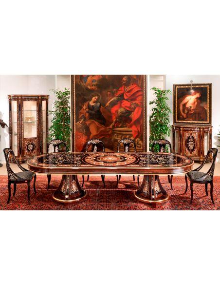 Dining Tables 10 Luxury dining furniture. Ebony and Walnut burl.