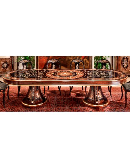 Dining Tables 10 Luxury dining furniture. Ebony and Walnut burl.