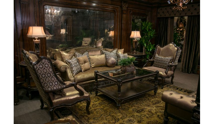 Luxury Leather & Upholstered Furniture A elegant sofa and chairs with exceptional style and design.
